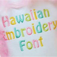 Hawaiian Embroidery Font
