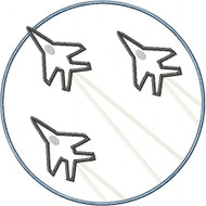 Jet Fighter Patch Applique