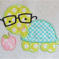 Turtle and Apple Applique