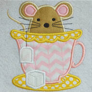 Teacup Mouse Applique
