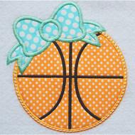 Bow Basketball Applique