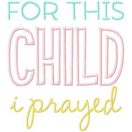 For This Child I Prayed