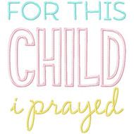 For This Child I Prayed