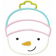 Toboggan Snowman Applique