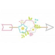 Floral Arrow Applique