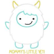 Mommy's Little Yeti Applique
