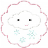 Snow Cloud Patch Applique