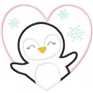 Valentine Penguin Patch