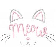 Meow Motif Applique