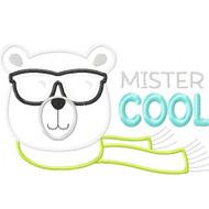Mr Cool Bear Applique