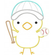Baseball Chick Applique