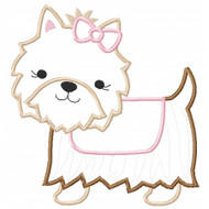 Sweet Yorkie Applique