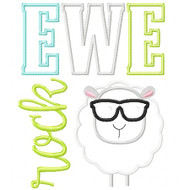 Ewe Rock Applique