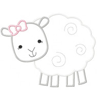 Girly Sheep Applique
