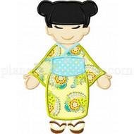 Kimono Girl Applique
