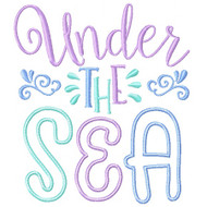 Under the Sea Applique