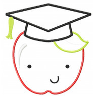 Graduation Apple Applique