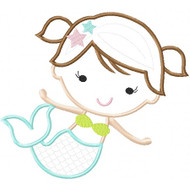 Sweet Mermaid Applique