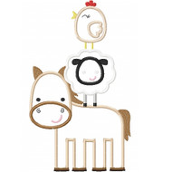 Stacked Farm Animals