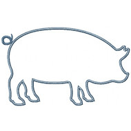 Pig Silhouette Applique