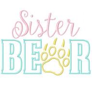 Sister Bear Applique