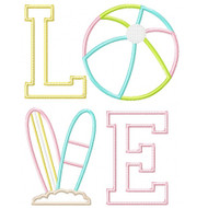 Beach Love Applique