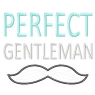 Perfect Gentleman Applique