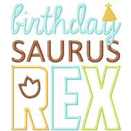 Saurus Rex Applique Set