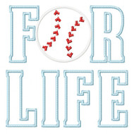 Baseball for Life Applique