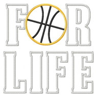 Basketball for Life Applique