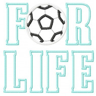 Soccer For Life Applique