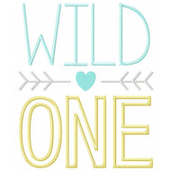 Wild One Applique