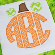 Pumpkin Monogram Alpha