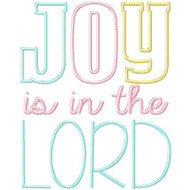 Joy Is In The Lord