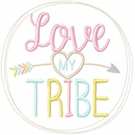 Love My Tribe Applique