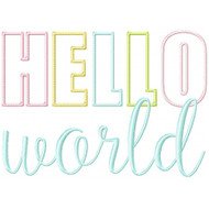 Hello World Applique