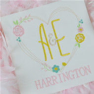 You and Me Wedding Monogram Set