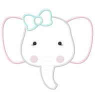 Girly Elephant Applique