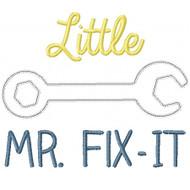 Little Mr Fix it Applique