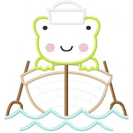 Sailboat Frog Applique