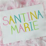 Santina Embroidery Font