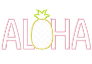 Aloha Pineapple Satin and Zig Zag Applique
