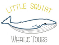 Whale Tours Satin Applique