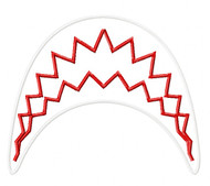Shark Jaws Satin Applique