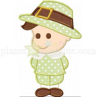 Billy So Thankful Pilgrim Applique