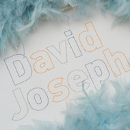 David Open Embroidery Font