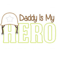 Army Dad Hero Vintage and Blanket Stitch Applique