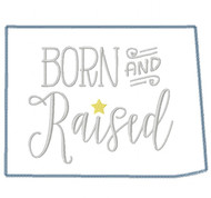 Colorado Born and Raised Vintage and Blanket Stitch Applique