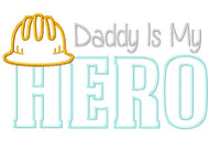 Construction Dad Hero Satin  Stitch Applique