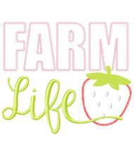 Farm Life Vintage and Blanket Stitch Applique